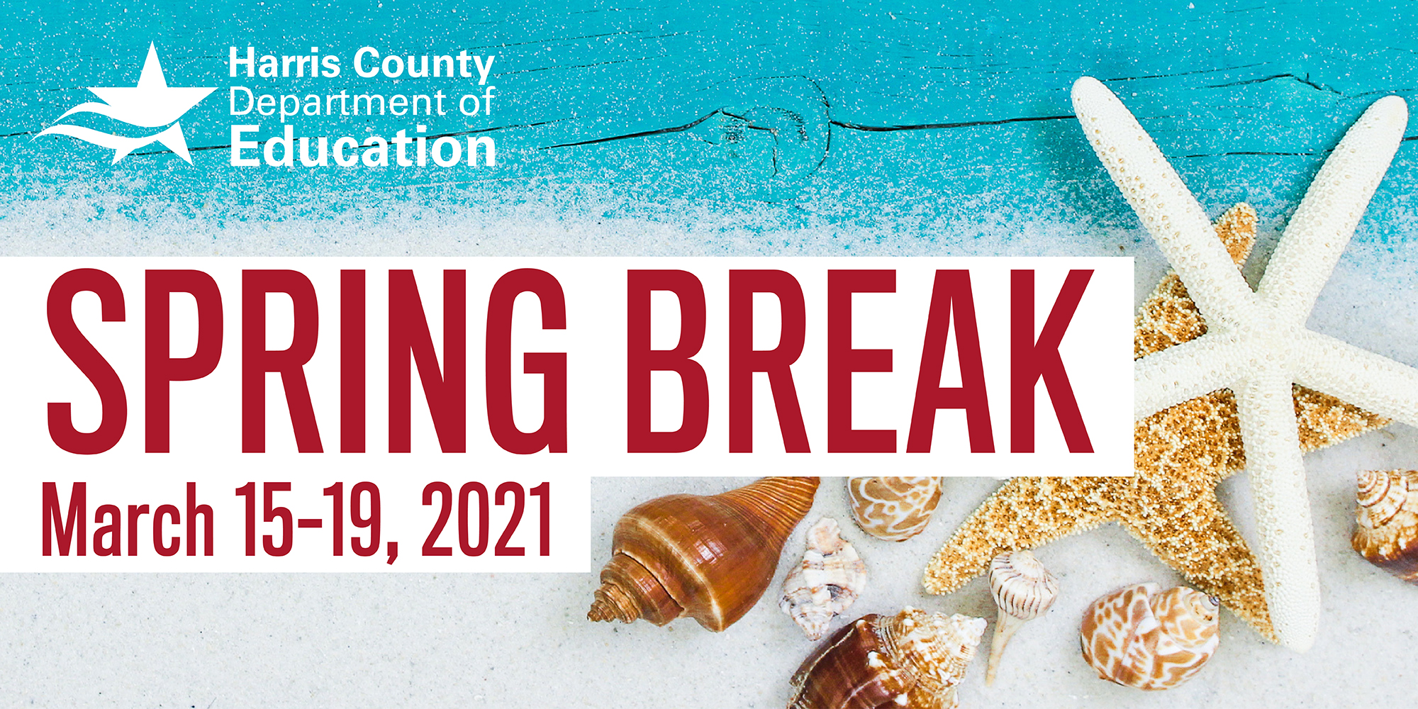 All HCDE campuses and offices will be closed for Spring Break