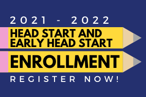 Image of two pencils with Head Start and Early Head Start Enrollment written, links to Head Start.