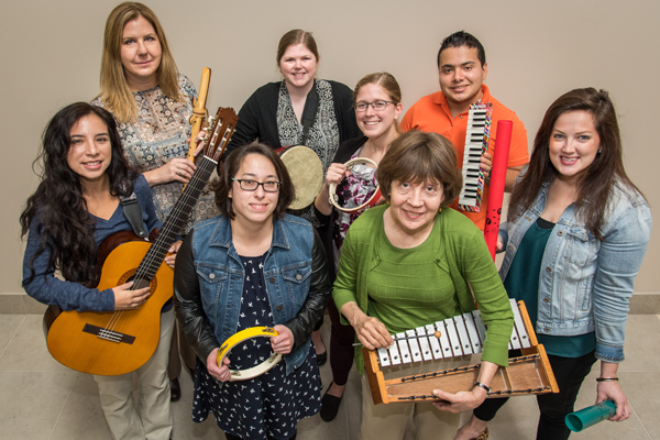 Image of HCDE music therapists.