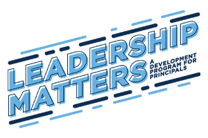 Image of the Leadership Matters logo for first-year principals.
