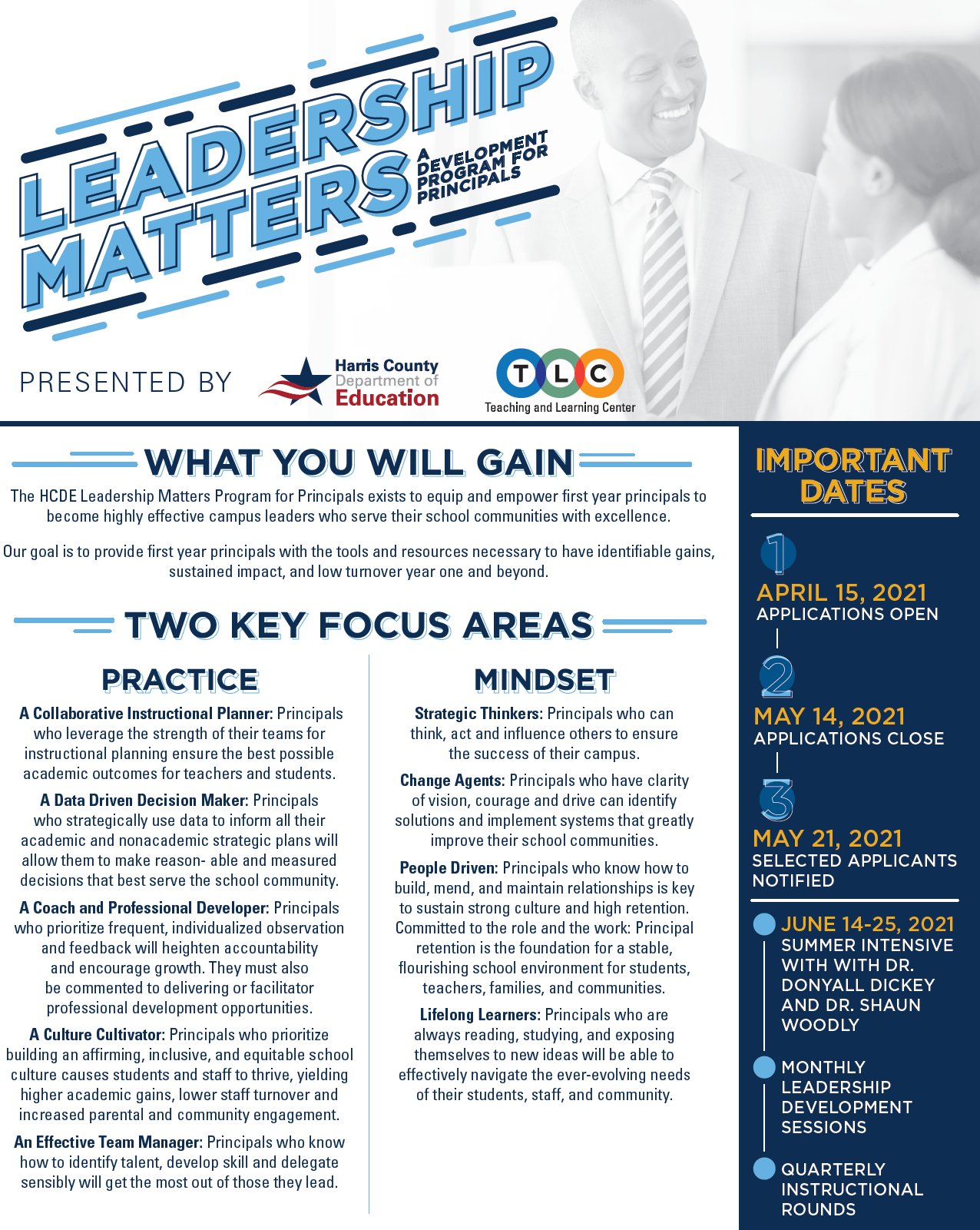 Image of Leadership Matters flyer